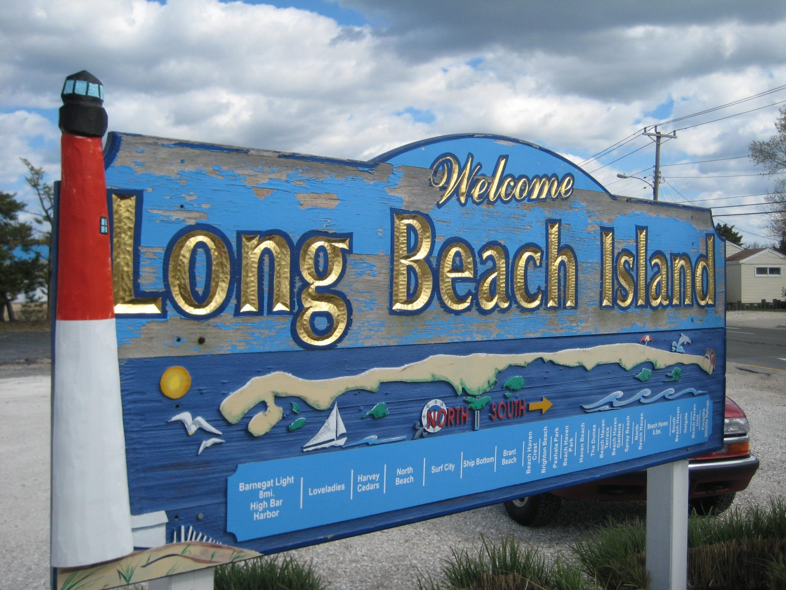 Welcome to LBI sign for summer job blog